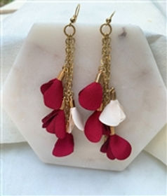 Nightlight Design Rose Petal Drop Earrin