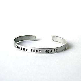 Elisha C follow your heart aluminum band. Ethically handmade in Haiti. https://elishac.com/collections/jewelry