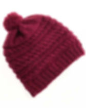 Serrv Mulberry Winter Pom Hat. Handmade and fair trade. https://www.serrv.org/category/winter-knits