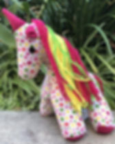Papillon Marketplace Stuffed Unicorn. Fair trade and handmade in Haiti. https://papillonmarketplace.com/search?type=product&q=heart