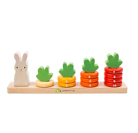 Amma's Umma Counting Carrot Wooden Stacker Toy