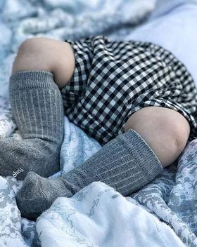 Wild Dill Gray Baby Dress Socks 3 Pack.