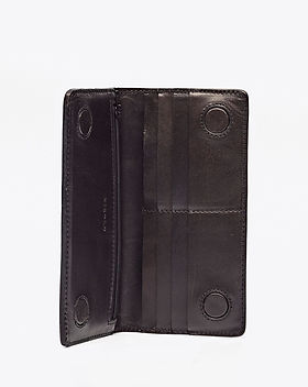 Made Trade Leather Black Long Wallet. Ethically-made.