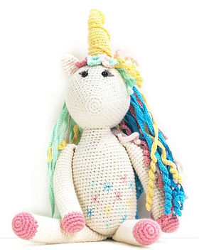 Rose the Unicorn Stuffed Animal from The Lemonade Boutique, handmade by Syrian refugees in Turkey