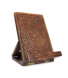 The Village Country Store Tablet Stand. Fair trade and hand carved. https://www.thevillagecountrystore.com/search?type=product&q=tablet*+stand*