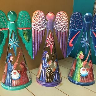 Hands of Haiti painted nativity angels.