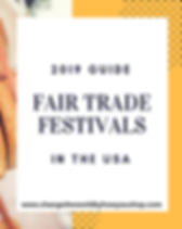 Fair Trade Festivals in the U.S. Directory.  Find fair trade festivals, fashion shows and events happening in your state! https://www.changetheworldbyhowyoushop.com/fair-trade-festivals