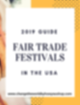 Fair Trade Festivals in the U.S. Directory.  Find fair trade festivals, fashion shows and events in your state! https://www.changetheworldbyhowyoushop.com/fair-trade-festivals