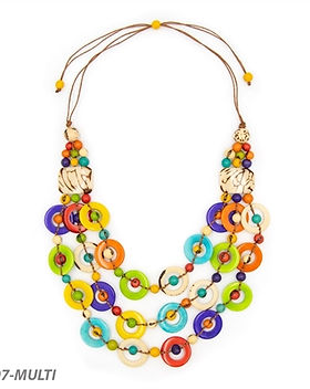 Organic Tagua Jewelry Libby Necklace.