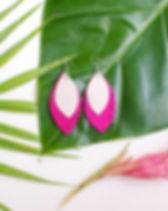 Petite Palm feather earrings. Handmade in Haiti. https://www.petitepalm.org/shop