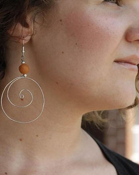 Simple Switch Coiled Wire Earrings.
