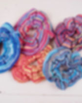 Eternal threads fair trade hair scrunchies. https://eternalthreads.org/product-category/accessories/?orderby=price