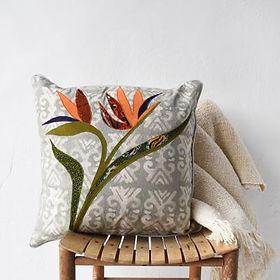 Amani Ya Juu Bird of Paradise Pillow. Fair trade.