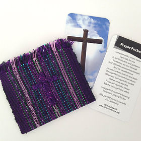 Education and More prayer pocket. Fair trade. https://www.educationandmore.org/collections/christian-fair-trade-gifts