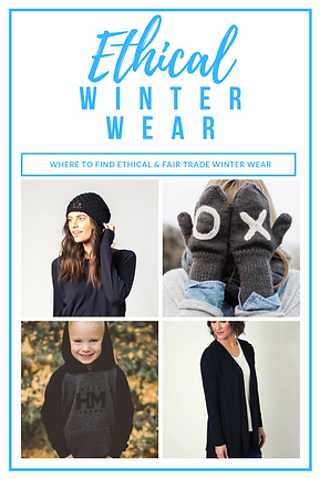 Ethical & Fair Trade Winter Wear: Where to find ethical winter wear for men, women and children.  Find winter hats, scarves, mittens, jackets, sweaters, hoodies and more that give back to make a difference in the world. #fairtrade #ethicalfashion #winterwear