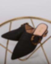 Purpose Boutique Black Buckle Women's Shoes. Ethically-made Fashion.