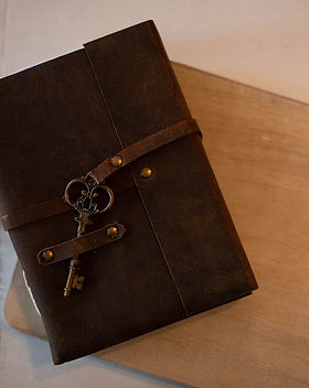 Rahab's Rope Leather Journal with Key.