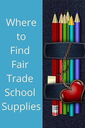 Fair Trade School Supplies 2020