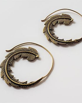 Artruism Imports Pheonix Feather Earrings. Artisan Made.