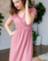 Elegance Restored maternity dress. Perfect for breast-feeding and stretches for pregnancy. https://www.elegancerestored.com/collections/tops/products/kelly-ann-dress
