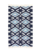 Serrv cotton chenille blue diamond rug. Fair trade. https://www.serrv.org/category/pillows-rugs