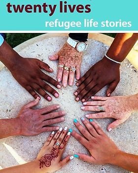 """Eternal Threads book about refugees: """"Ten Cultures, Twenty Lives."""" Tells the stories of refugees who have resettled in Abilene, Texas. https://eternalthreads.org/product/ten-cultures-twenty-lives/"""
