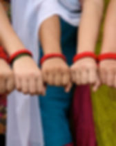"Eternal Threads Red Thread bracelets. ""Wear freedom on your arm."" Buy a red thread bracelet and join the fight against human trafficking.  These bracelets are made by rescued girls in Nepal and support anti-trafficking border units and safe houses as well as fair wages for the girls. https://eternalthreads.org/product-category/red-thread-movement/"