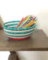 The Sparrow Studio Watermelon Basket. Handmade in Rwanda.
