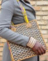 Azizi Life Banana Leaf Tote. Fair Trade and handmade in Rwanda. https://azizilife.com/products/#bags