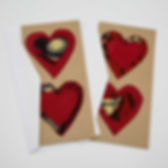 Amani Ya Juu Double Heart Valentine's Day Card. Fair Trade and handmade. https://amaniafrica.org/search?q=heart