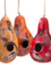 Lucuma Designs Gourd Birdhouses. Fair Trade. Handcrafted by artisans in Peru.