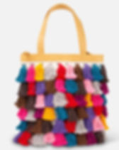 Noonday La Gloria colored tassel tote. https://juliegodshall.noondaycollection.com/shop/bags/