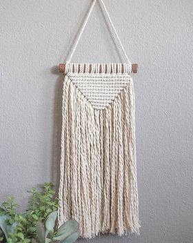Mission of Hope Petite Macrame Wall Hanging.