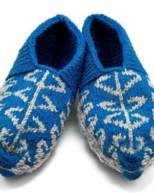 Women's Slipper Socks Blue. Hand knitted in Azerbaijan. https://www.etsy.com/shop/AzerbaijaniSocks