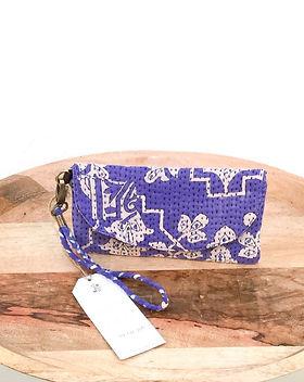 Sari Bari Protima Wallet. Made from upcycled Saris.