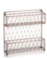 Serrv wire mesh rack. Great for spices or cosmetics. Fair Trade. https://www.serrv.org/product/wire-mesh-spice-rack/wire-accessories