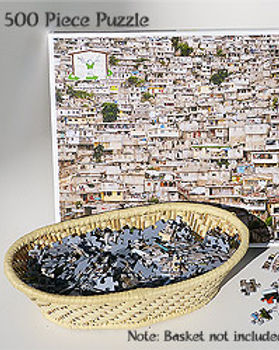 Market Haiti 500-piece pzzle depicting Haiti. https://markethaiti.com/collections/gifts/products/haiti-houses-puzzle-500-pieces