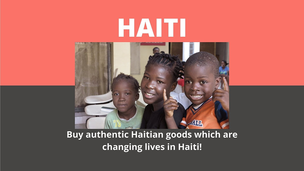 Buy authentic Haitian goods which are changing lives in Haiti!