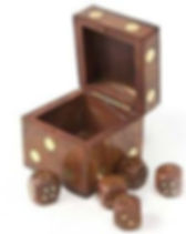 The Village Country Store fair trade wooden dice. https://www.thevillagecountrystore.com/collections/childrens-play