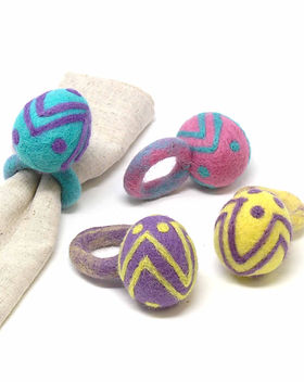 The Village Country Store Easter Egg Napkin Rings