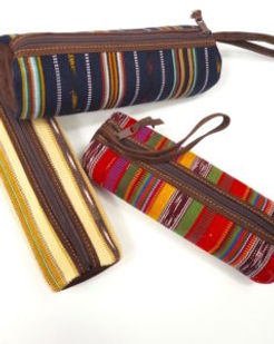 Eternal Threads pencil roll bag. Fair trade and handcrafted.