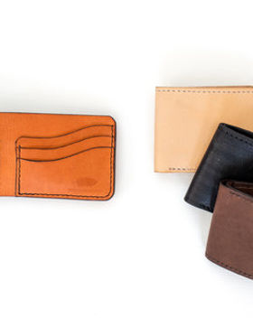 Haiti Design Co. men's leather wallets. Ethically-made in Haiti.