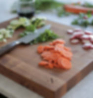 Give a Damn Goods cutting board. Ethically-made. https://giveadamngoods.com/collections/shop-sustainable-home-goods