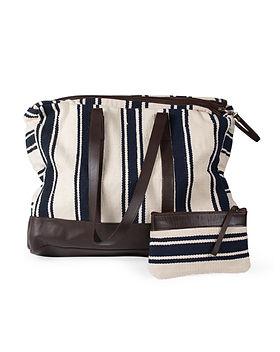 Ten Thousand Villages fair trade weekender bag, perfect for travel. https://www.tenthousandvillages.com/business-bags