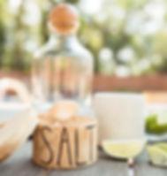 Mango + Main Fair Trade Wooden Salt Jar.