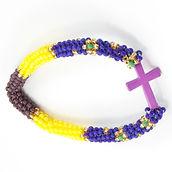 Women of Hope Guatemala Faith Purple Cross Bracelet