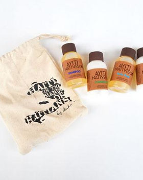 Elisha C. travel toiletry set. Made in Haiti using fair trade practices. https://elishac.com/collections/beauty/products/travel-toiletry-set