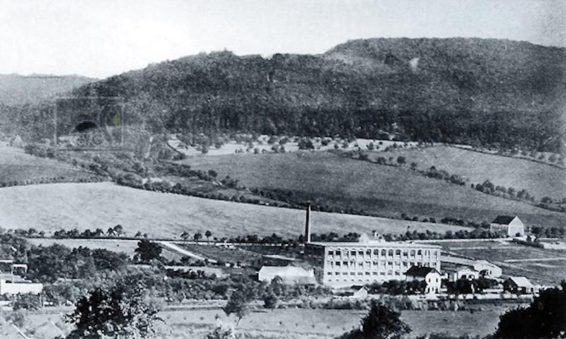 Zlin and 1st Bata factory bulding 1905 (