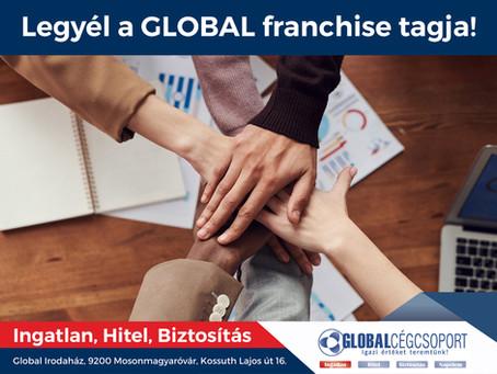 Franchise partnereket keresünk a Global Cégcsoport fejlesztéséhez