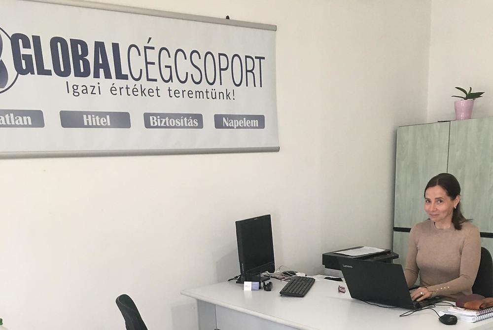 Tócsán Krisztina Tatán várja a Global Cégcsoport partnereit ingatlan, hitel, biztosítás és napelem témakörben nyújtott szakmai tanácsaival